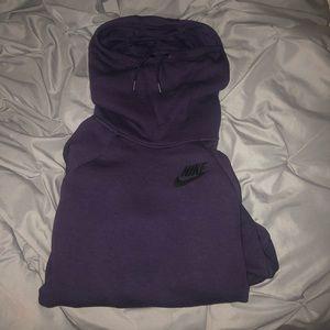 Deep Purple Nike Cowl Neck Hoodie